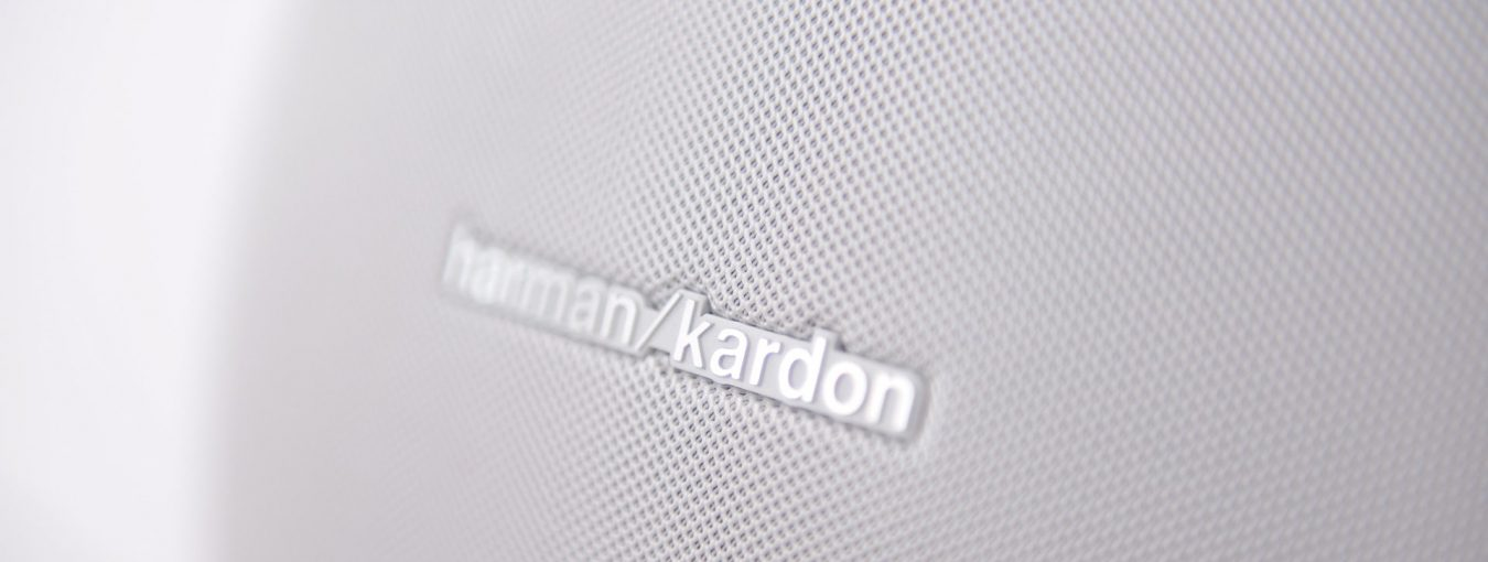 Close up of Harman Kardon speaker grills